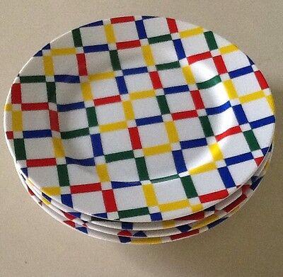 "Set of 4 FITZ And FLOYD ""Hopscotch"" Fine Porcelain 7.5"" Salad Plates"