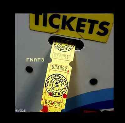 X25 Five Nights At Freddys Decor Goodie Bag Arcade Tickets Party Favor Fnaf