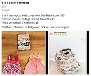 5 in 1 cover and rompers