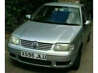2000 X REG VW POLO 1.4 PETROL IN SILVER BREAKING FOR PARTS