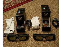 2 Pairs of Active 3D3 3D Glasses