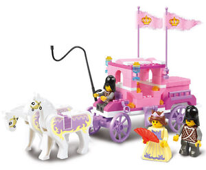 New Lot Building Block Prince Queen Princess Castle Dream of Pink Girl Toy B0250
