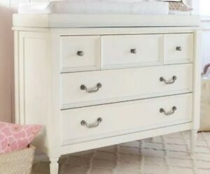 Pottery Barn kids Blythe Dresser, Change Table Topper French White