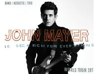 John Mayer - 2 x tickets for O2 London, 11/5/17