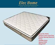 New Luxury Latex Eurotop 9 Zone Pocket Spring Mattress Queen/King Clayton South Kingston Area Preview