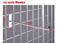 Gridwall mesh panels, hooks, triangle base, T-Legs, clips