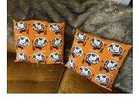 habitat orange lion cushions animal print as new