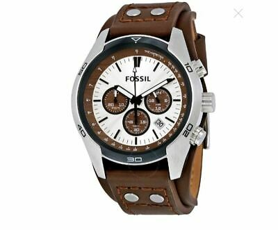 FOSSIL CH2565 Coachman Chronograph Cuff Leather Men's Watch