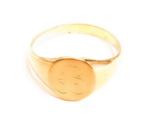Vintage Gold Plated ESPO Esposito Signet Monogram Ring*Many Sizes & Letters A810