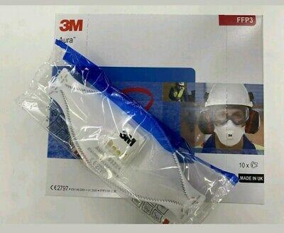 10x 3M Aura 9332+ Mundschutz Maske FFP3 Atemschutzmaske mit Ventil Partikelmaske