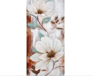 WHITE FLOWERS Floral  Painting Print Canvas Wall Art Artwork 55X135cm Camp Hill Brisbane South East Preview