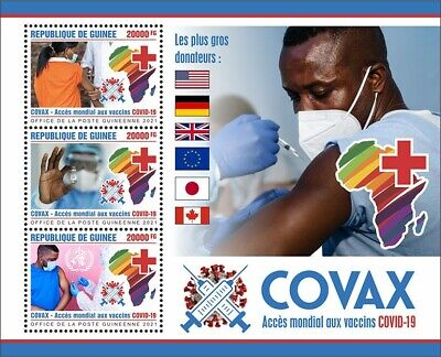 Guinea 2021 MNH Medical Stamps Corona Covax Vaccines Global Access 3v M/S