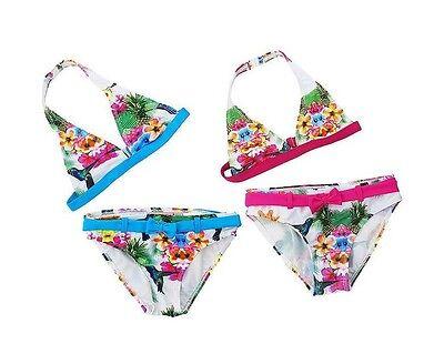 Mädchen 2 Teiliger Tankini Badeanzug (Bikini-Set 2teilig Mädchen Tankini Bade-/ Schwimmanzug Birds Sommer Gr. 128-140)