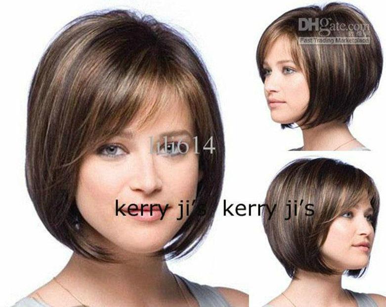 New Fashion Wigs Short Blonde Layered Bob Haircuts Bobs Bangs + ...