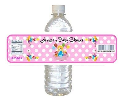 5  Baby Shower Party Favors ~ Water Bottle labels Girl Buy 3 get 1 free (bp1)](Buy Baby Shower Favors)