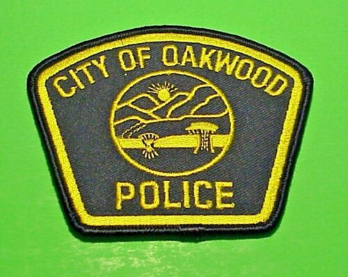 """OAKWOOD  OHIO  OH   3 1/8"""" x 3 3/4""""  POLICE PATCH  FREE SHIPPING!!!"""