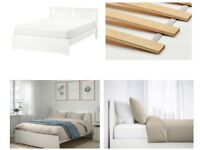 IKEA White Double Bed-Frame