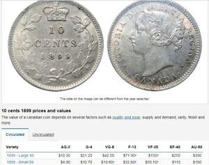1899 -2 DIMES 1-AG-3 $ 8.00                 1-VG-8 $ 35.00