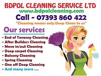 Short notice call for Deep Clean - End of Tenancy - Carpet wash - after builder clean