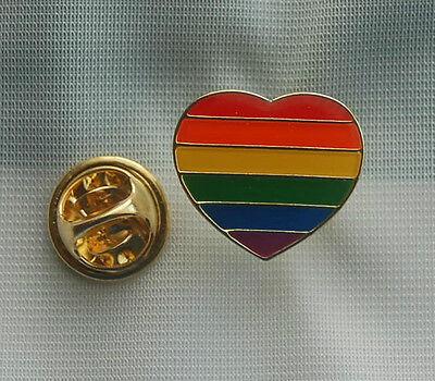 Rainbow Heart Regenbogen Herz Pin Button Badge Anstecker Anstecknadel TOP