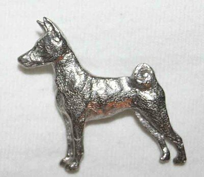 BASENJI Dog Fine PEWTER PIN Jewelry Art USA Made