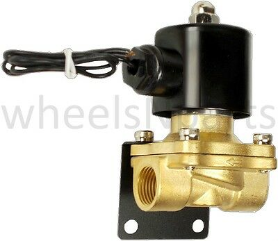 Air Ride Suspension Valve 12npt Brass 12v Electric Solenoid Mounting Bracket