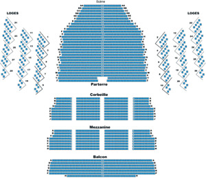THE MUSICAL BOX FRONT ROW FLOORS/PARTERRE 1ere RANGEE-ROW AA