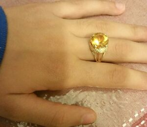 14KT YELLOW GOLD CITRINE AND DIAMOND RING London Ontario image 4