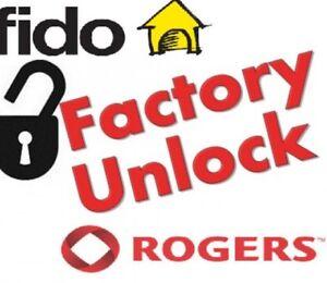 Factory Unlock / débloque Rogers/fido iPhone