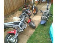 Midi/mini motor /dirt bikes