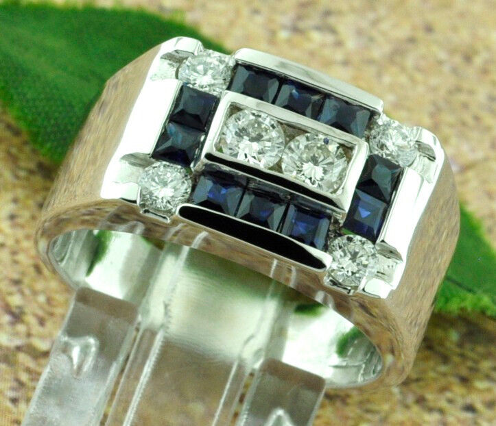 1.54 Ct 14k Solid White Gold Men