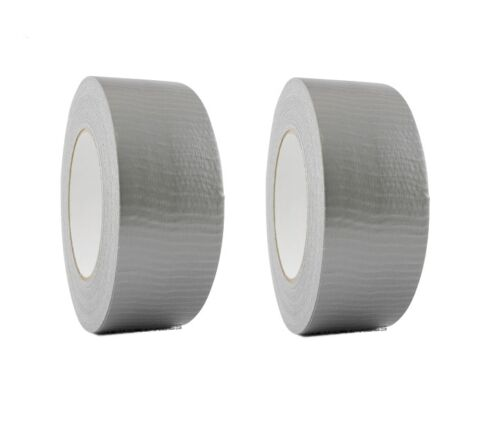 "2 Rolls Silver Duct Tape 2"" x 60 yd Utility Grade Duct Tape Free Shipping"