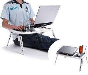 Tavolino base supporto portatile pieghevole per pc notebook letto ventola usb ebay - Tavolino per pc portatile da letto ...