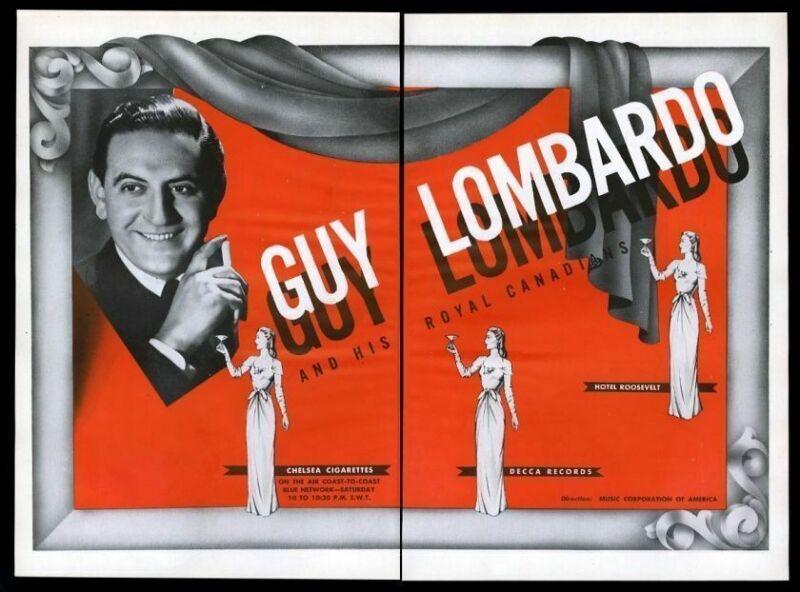 1944 Guy Lombardo photo BIG music trade gig booking ad