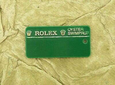 ROLEX 116234 Datejust M Serial Number Hang Tag Seal Green w Barcode No String