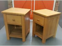 Pair of Bedside Tables / Cabinets / Good quality