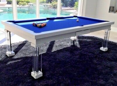 Luxury Convertible Dining Pool Table Billiard Dining Desk Fusion Monaco 8 8 Ft