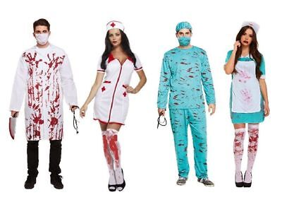 Zombie Chirurg Kostüm Halloween Horror Doktor Blutige Krankenschwester Fasching