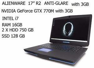 TOP OF THE LINES GAMING ALIENWARE RAZER BLADE starts at 899$ from 13'' to 2199 $ for 18''