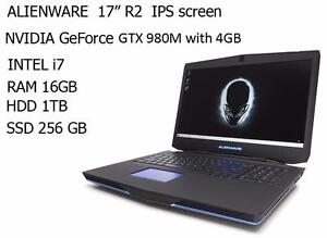 ALIENWARE 17'' R2 quad i7 TURBO 3.4GHZ 16GB ,1TB+ 128 GB SSD GTX 980 with 4GB