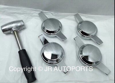 4 Zenith 2 Bar 2 Way Smooth Knock Offs Spinners Chrome Wire Wheel Lead Hammer for sale  Shipping to Canada