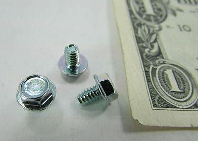 Lot 100 8-32 X 14 Hex Washer Head Machine Screws Zinc Plated Steel Taptite