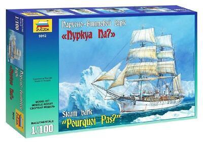 Zvezda 9012Steam Bark POURQUOI PAS ship 1:100