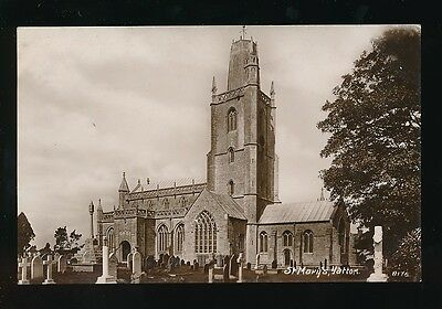 Somerset YATTON St Mary's Church c1910/30s? RP PPC