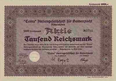 Terra AG für Samenzucht 1938 Aschersleben Hadmerslebener Sachsen Anhalt Hannover