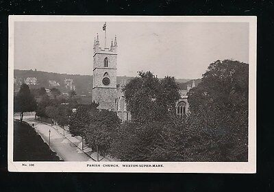 Somerset WESTON-SUPER-MARE religion Parish Church 1913 RP PPC