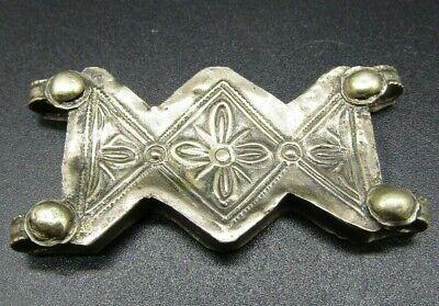Superb Medieval embossed repousse belt mount