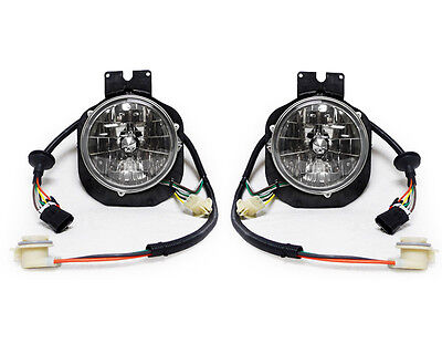 USA 96-05 FREIGHTLINER CENTURY TRUCK OUTER CRYSTAL HEADLIGHTS LAMPS PAIR LH RH
