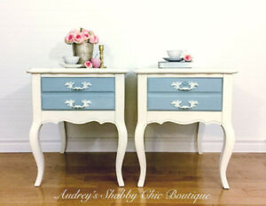 Lovely French Country End Tables or Vintage Nightstands