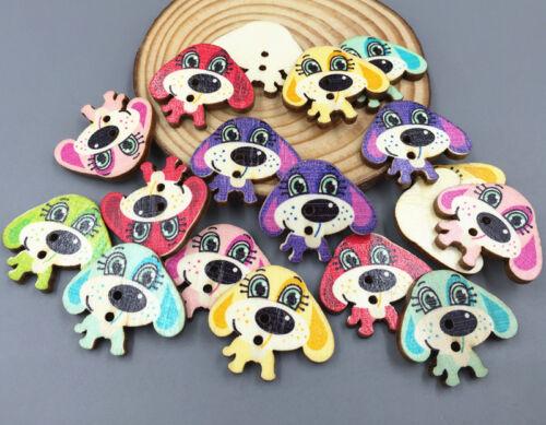 Mixed Cartoon Tiger head-shape Sewing buttons Wooden scrapbooking 32mm